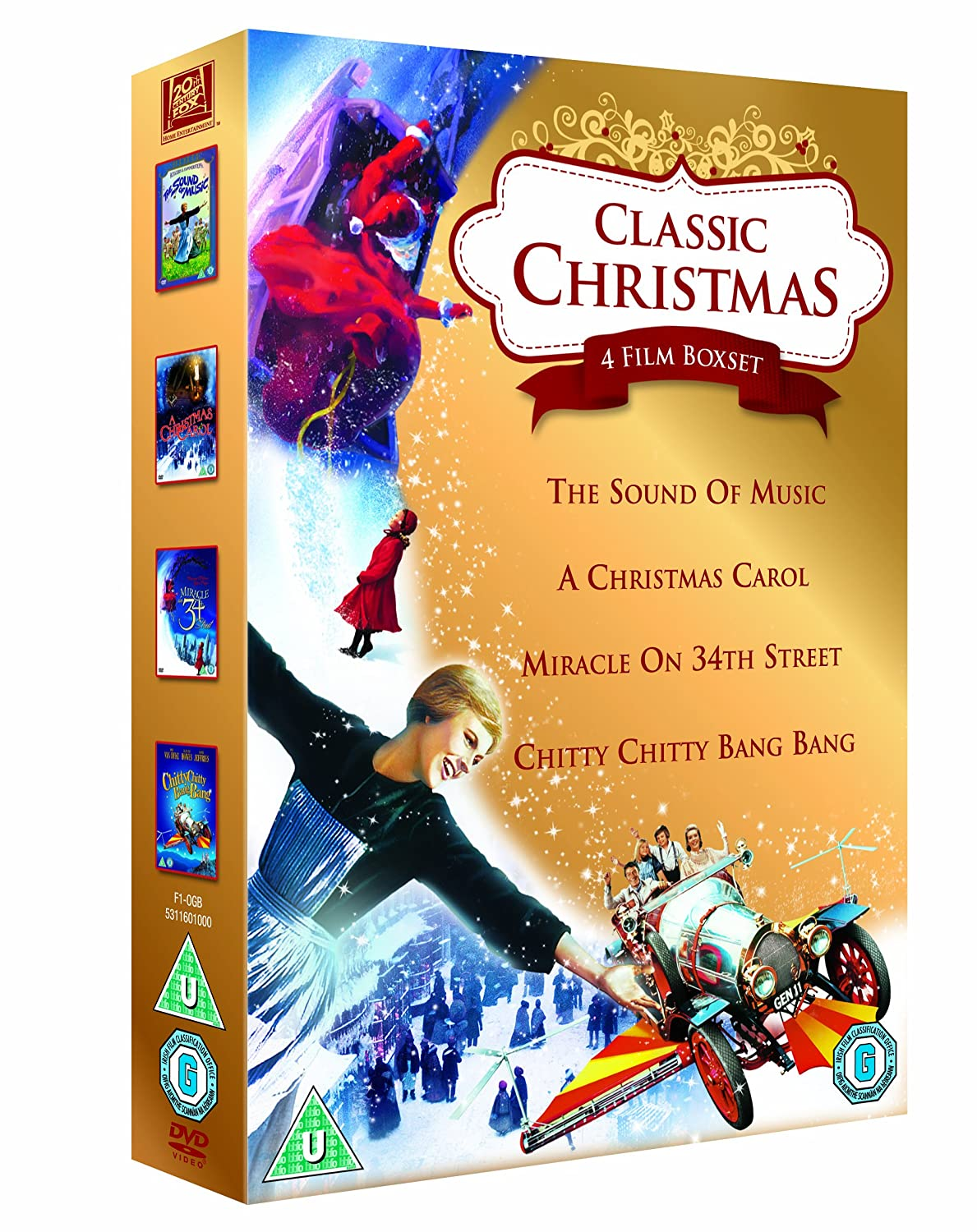 Classic Christmas 4 Film Collection: The Sound of Music, A Christmas ...