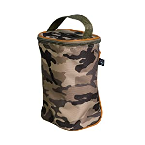 J.L. Childress Tall Twocool, Breastmilk Cooler, Baby Bottle & Baby Food Bag, Insulated & Leak Proof, Ice Pack Included, Fits 2-4 Bottles, Camouflage