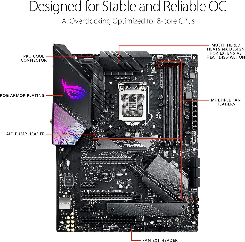 Asus Rog Strix Z390 E Gaming Motherboard Lga1151 Intel 8th 9th Gen Atx Ddr4 Dp Hdmi M 2 Usb 3 1 Gen2 802 11ac Wi Fi Amazon Ca Computers Tablets