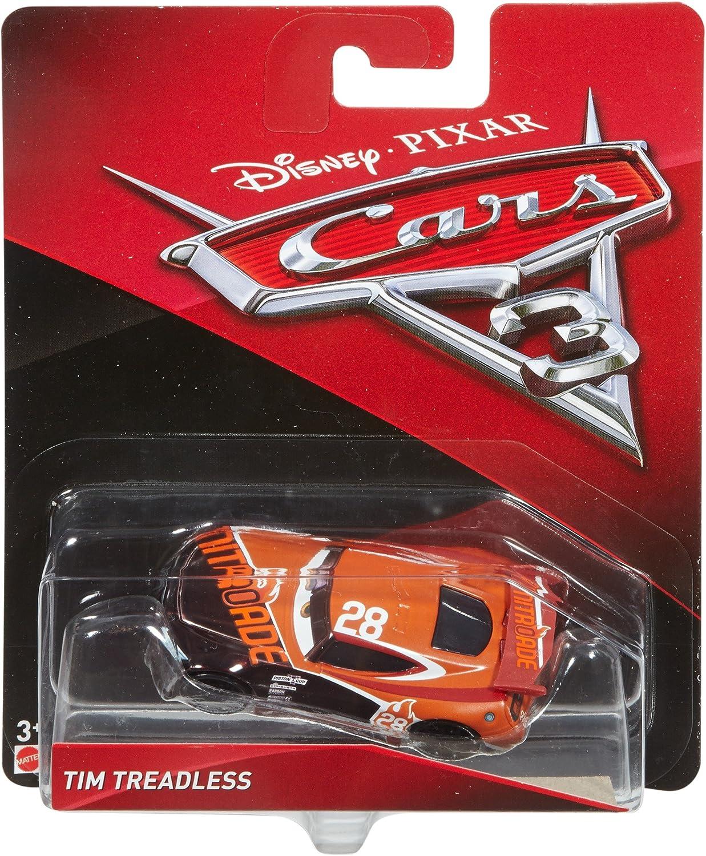 Disney Modelli//Colori Assortiti DXV41 Cars Veicolo Tim Treadless