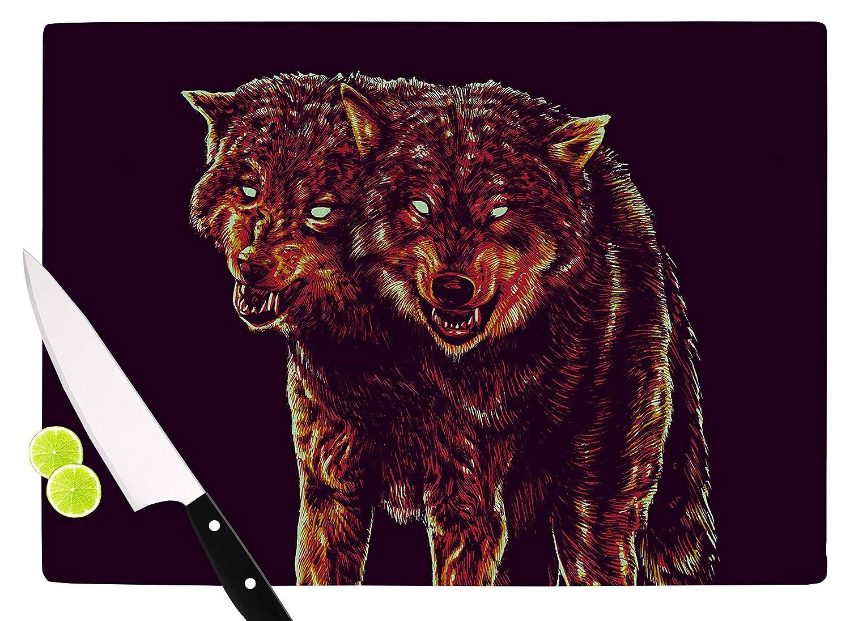 KESS InHouse RT1020ACB01 BarmalisiRTB2head Purple Red Cutting Board 11.5 x 8.25 Multicolor