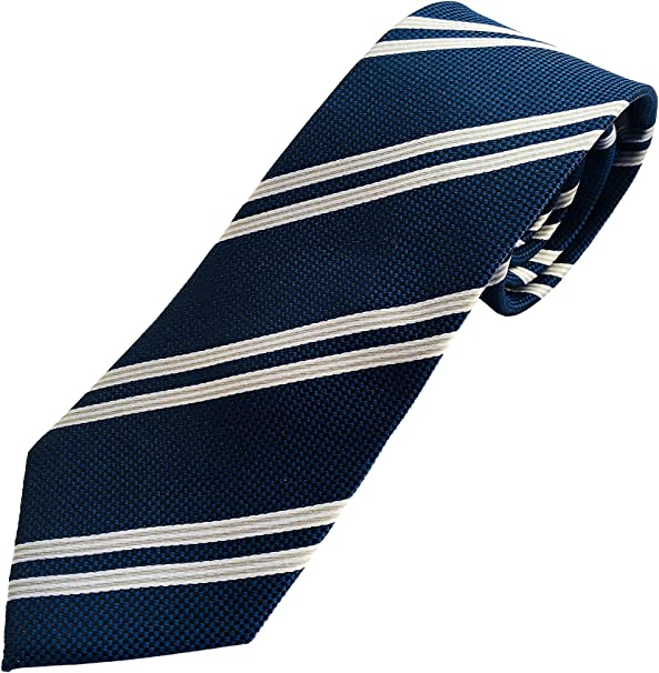 Corbata azul a rayas grises - Corbatas de hombre fabricadas ...
