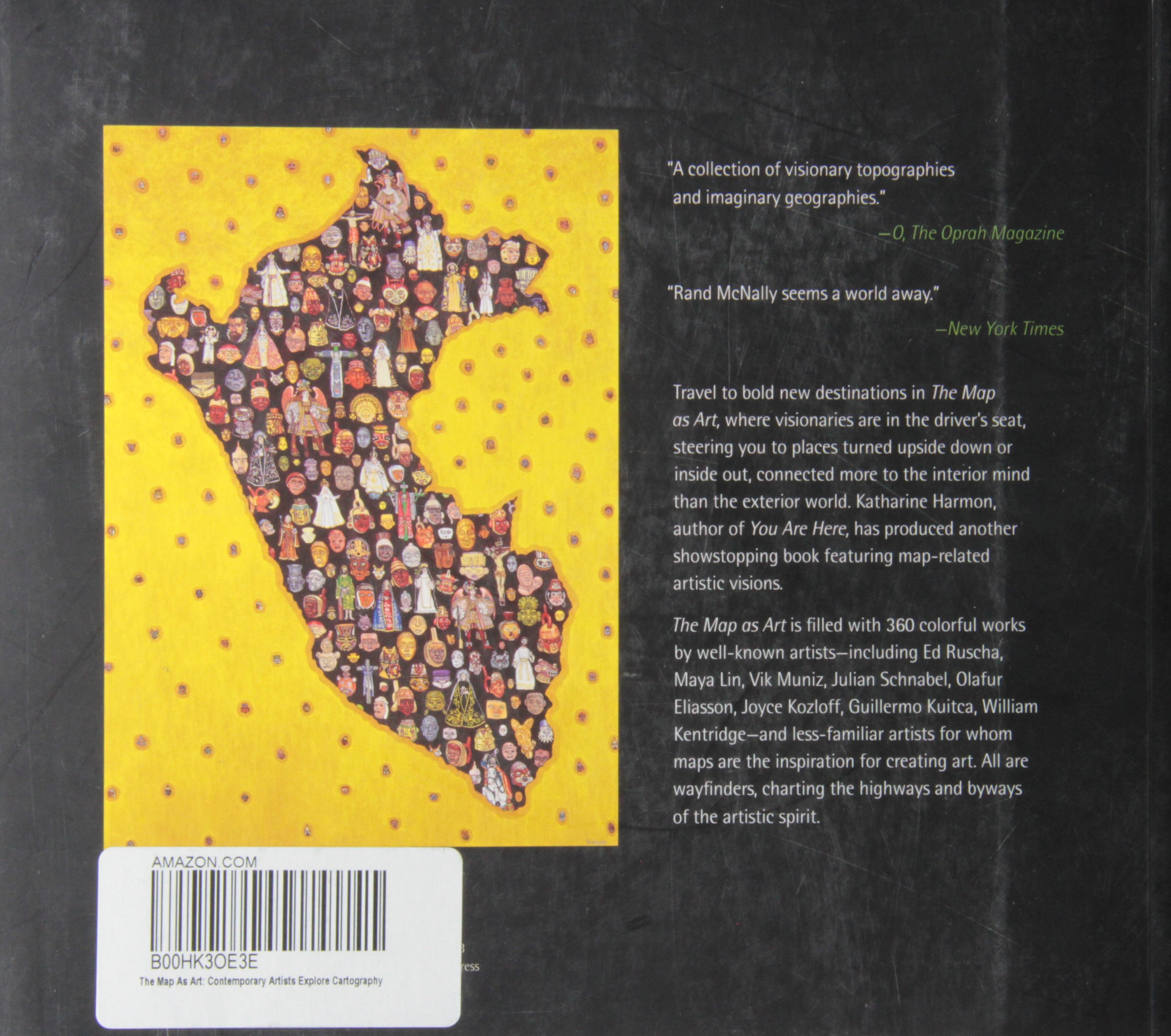 The map as art contemporary artists explore cartography katharine the map as art contemporary artists explore cartography katharine harmon gayle clemans 8601200626360 books amazon gumiabroncs Image collections