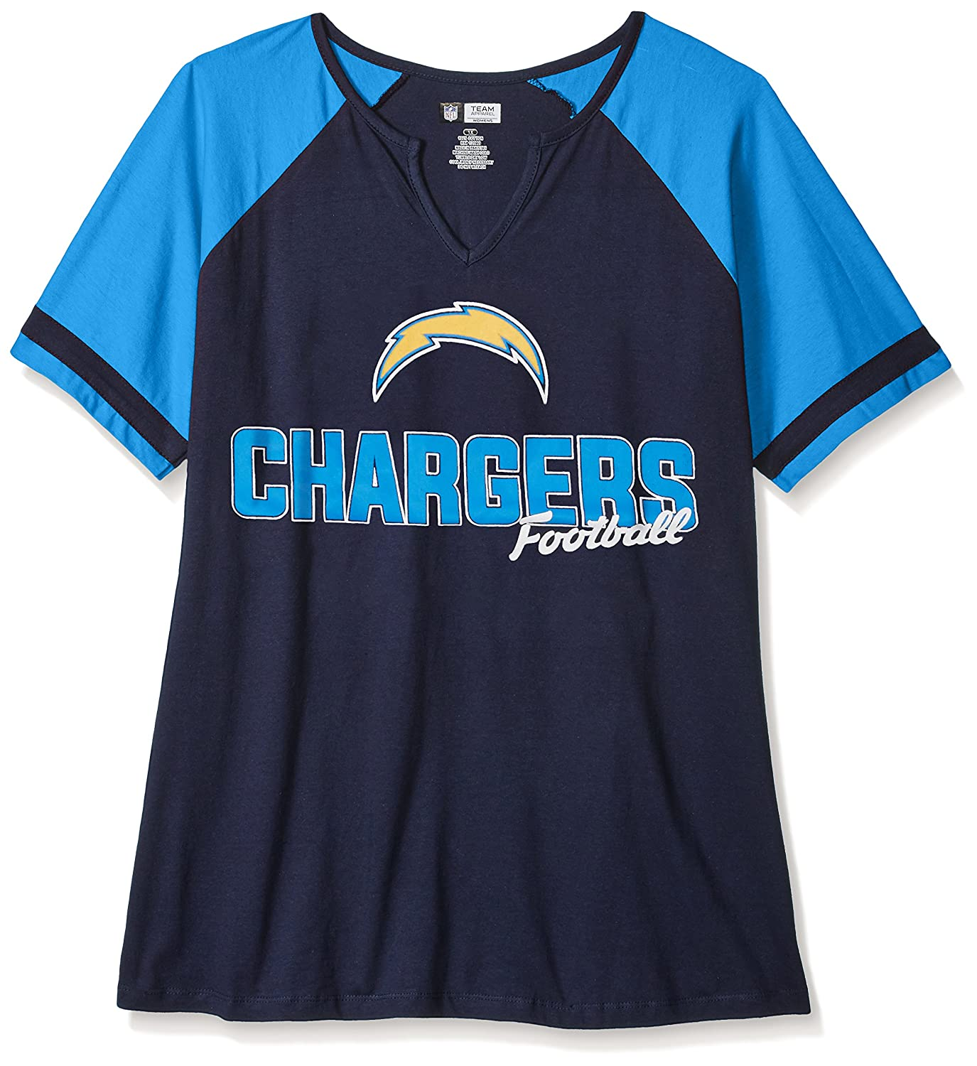 c2d4d802f Amazon.com   NFL Womens Chargers S S Notch V Neck Tee   Sports   Outdoors