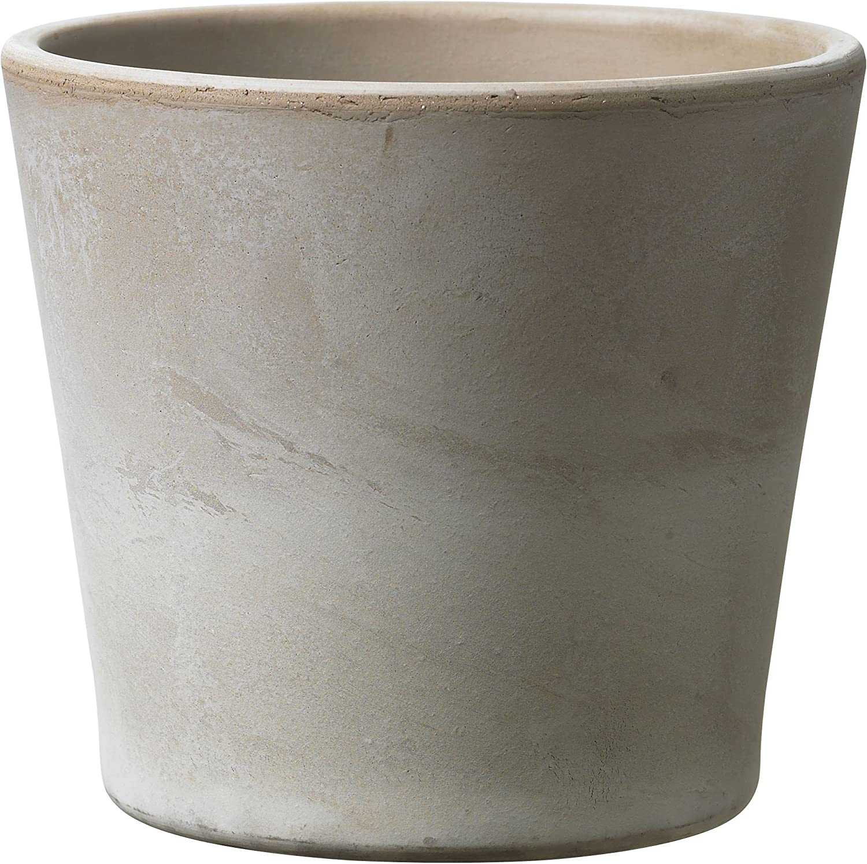 25 x 25 x 24 cm sandgrau Arcilla Maceta de cer/ámica para Plantas Dover Soendgen Keramik
