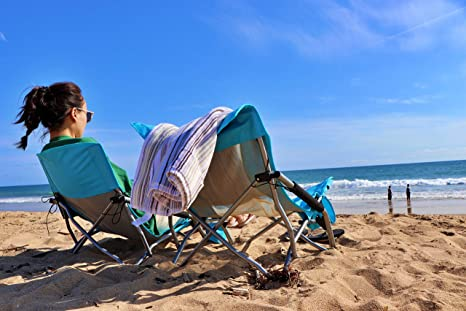 Amazon.com: Silla plegable de playa baja Nice C, ultraligera ...