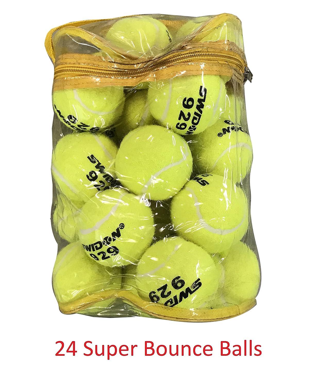 24 Tennis Balls Super Bounce Balls With Bag (100% Better Bounce Than Normal Balls) HOS SPORTS