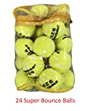 24 Tennis Balls Super Bounce Balls With Bag (100% Better Bounce Than Normal Balls)