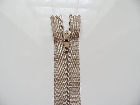 Gris Souris Fermeture Eclair Glissière Non Séparable Maille Nylon 18 cms