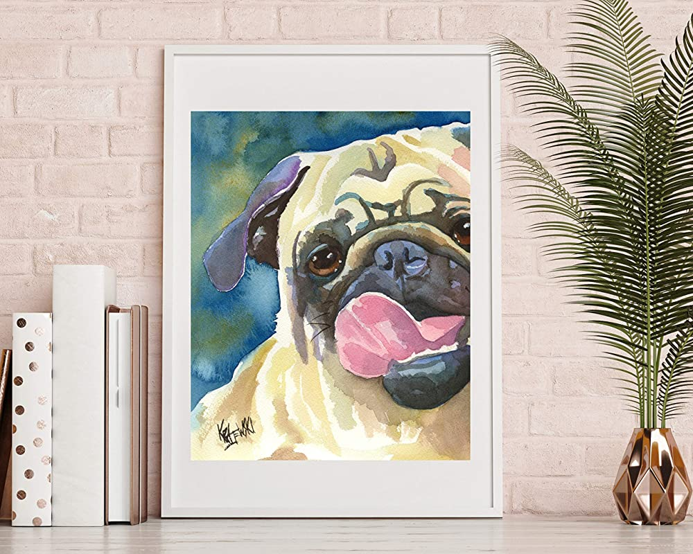 Bulldog Dog 8x10 Art Print Signed by Artist Ron Krajewski