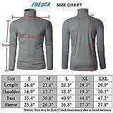 Fresca Mens Mock Turtleneck Pullover Tops Shirts