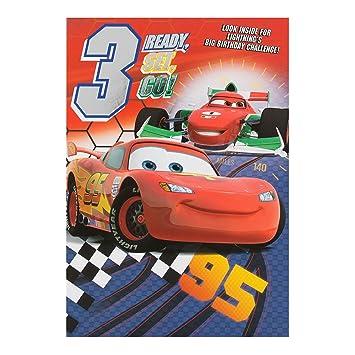 Hallmark Disney Cars 3rd Birthday Card Ready Set Go