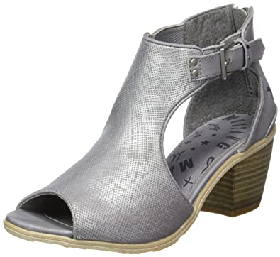 Womens 1221-810-21 Wedge Heels Sandals, Silver (21 Silver) Mustang