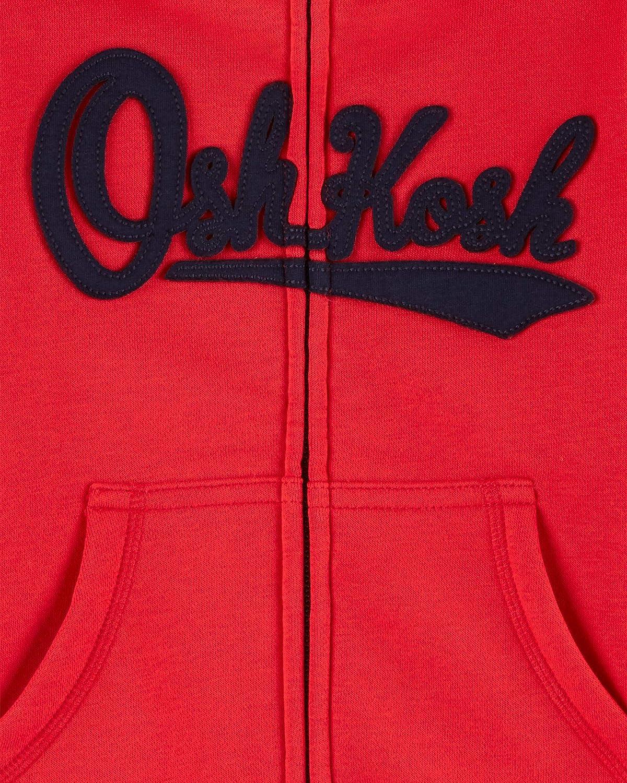 OshKosh BGosh Sudadera con Capucha y Logo para ni/ños 2A-5A Rojo