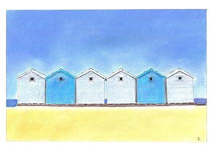 Azul diseño de casetas de playa arena tizas para tacos de billar de dibujos de Pastel
