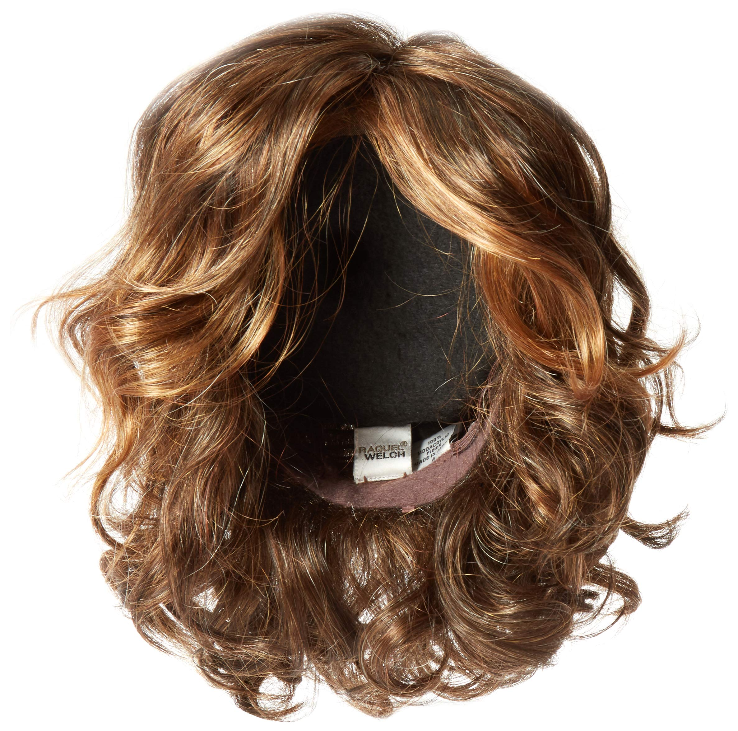 Hairdo Hairuwear Raquel Welch Brave The Wave Collection With Shoulder Length Modern Scrunched Soft Wavy Chic Hair, R829S+ Glazed Hazelnut