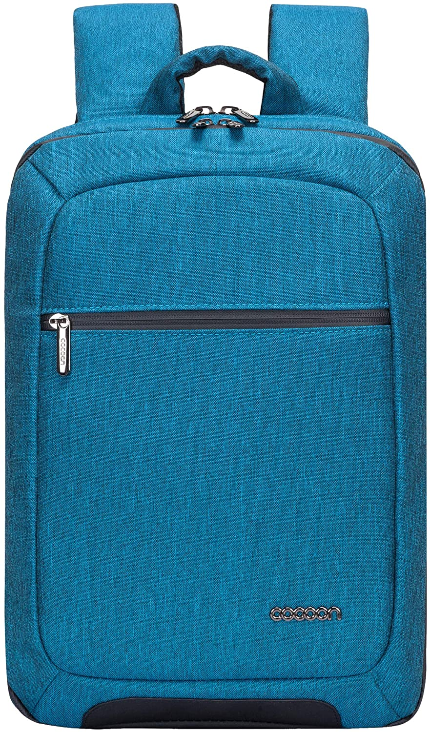 """Cocoon MCP3401TL Slim 15"""" Backpack with Built-in Grid-IT! Accessory Organizer (Teal/Blue)"""