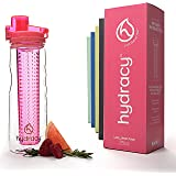 Hydracy Fruit Infuser Water Bottle - 25 Oz Sport Bottle with Full Length Infusion Rod and Insulating Sleeve Combo Set + 25 Fruit Infused Water Recipes eBook Bonus - Your Healthy Hydration Made Easy