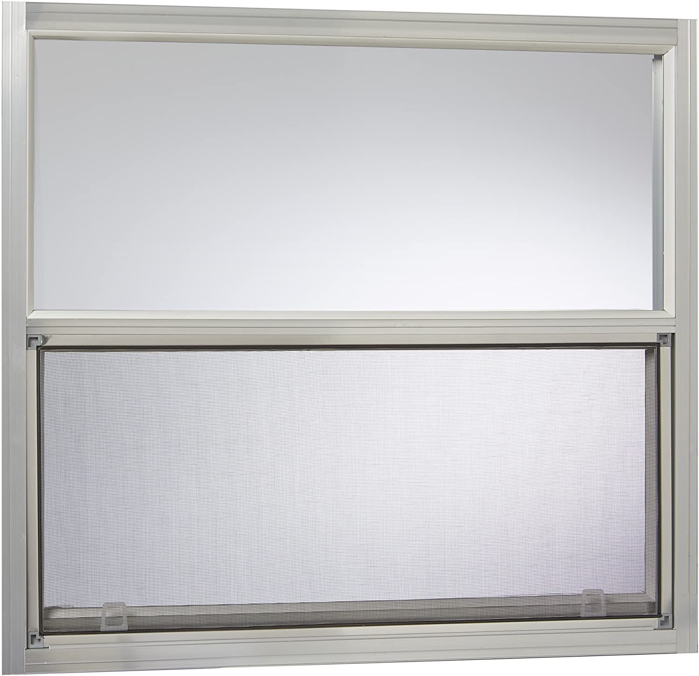 "Park Ridge Products AMHMF3027PR Park Ridge Mill Finish Aluminum Mobile Home Single Hung Window, 30"" x 27"", Silver"