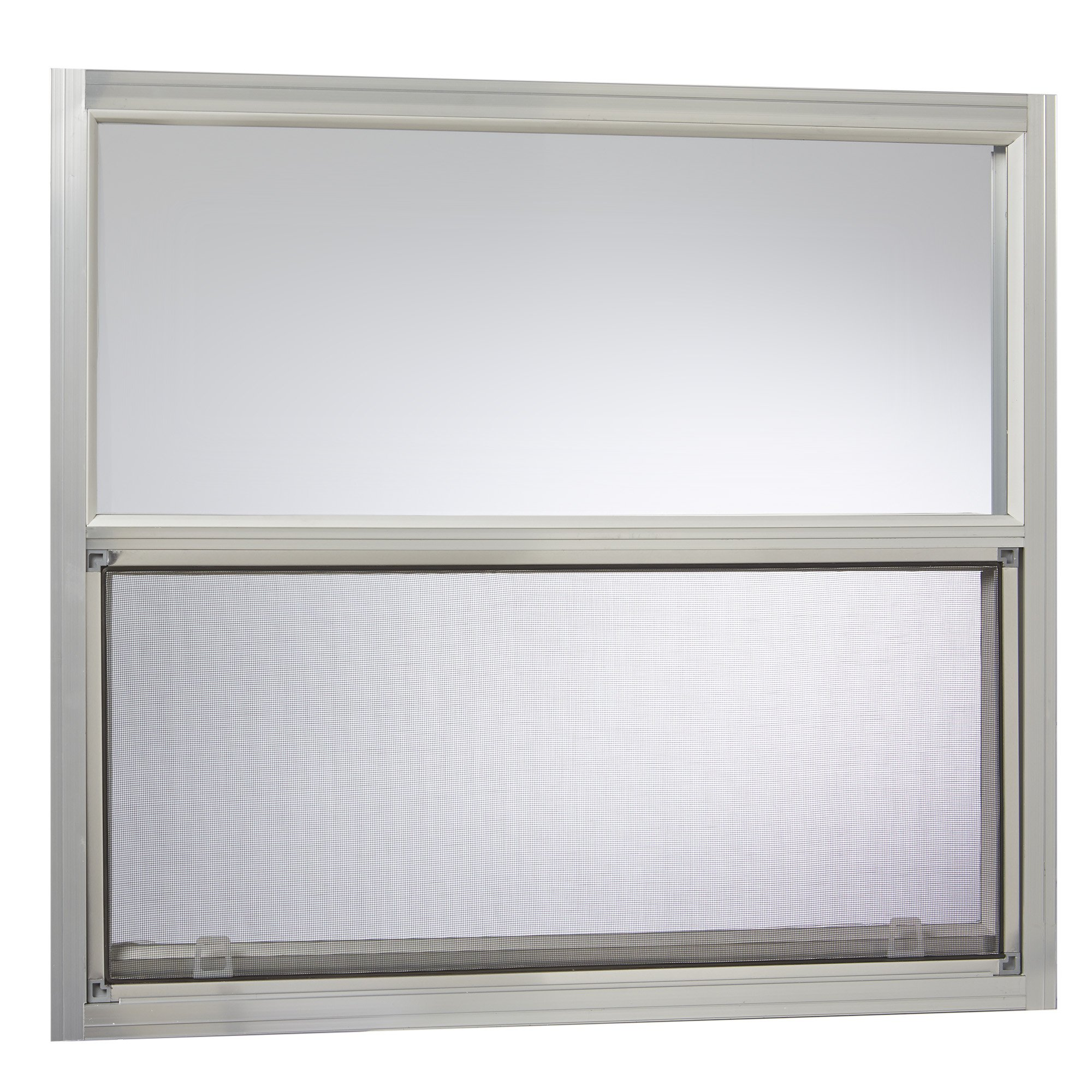 Park Ridge Products AMHMF3027PR Park Ridge Mill Finish 30 in. x 27 in. Aluminum Mobile Home Single Hung Window - Silver by Park Ridge Products
