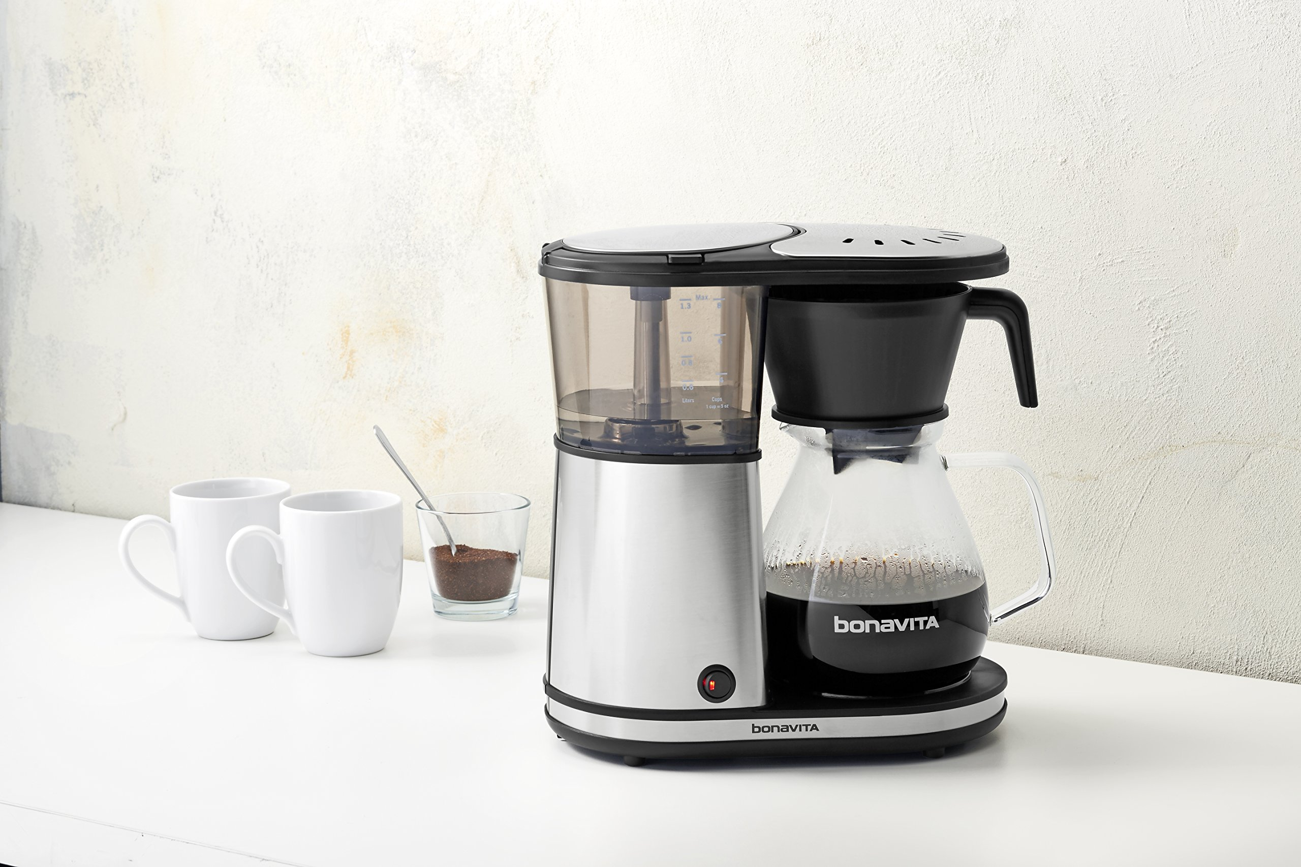 Bonavita BV1901GW 8-Cup One-Touch Coffee Maker Featuring Glass Carafe and Warming Plate by Bonavita (Image #3)