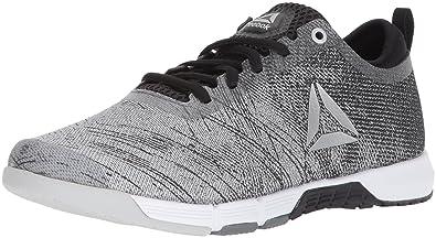 1b8290c1ec38 Reebok Women s Grace TR 2.0 Sneaker Alloy Black White Skull Grey Silver