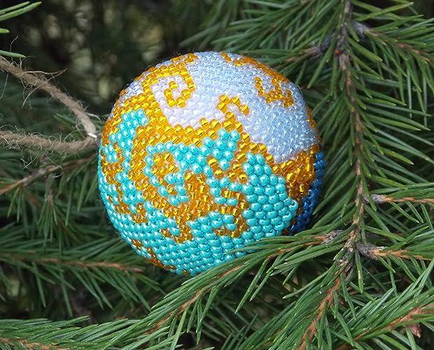 Amazon Com Handmade Winter Holiday Gift Nautical Blue Ornaments