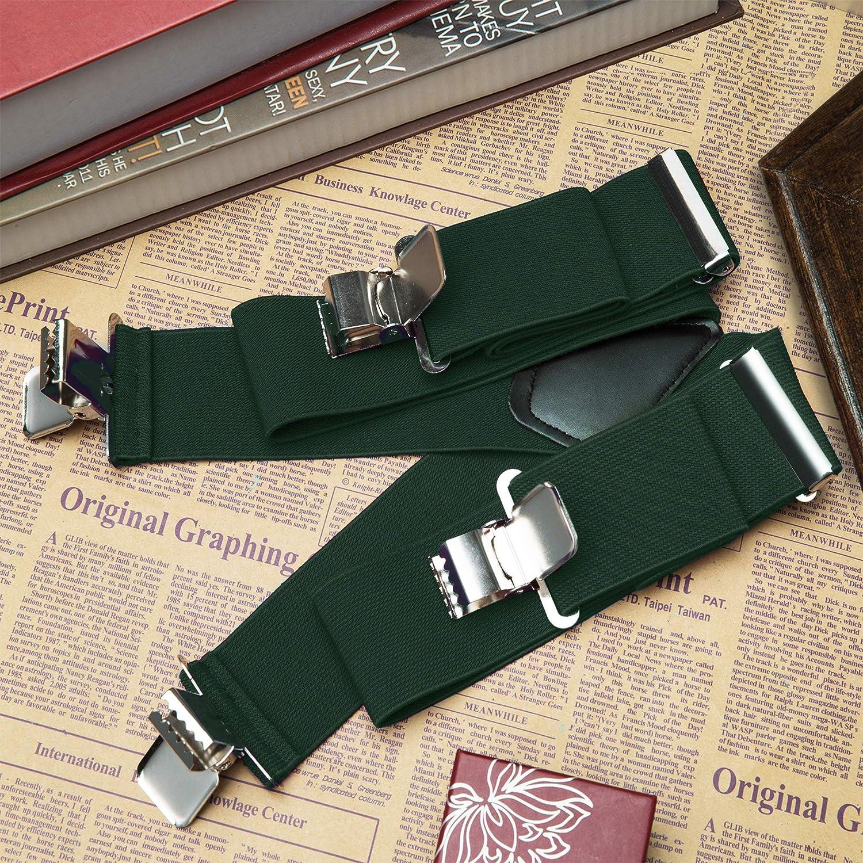 5116-Black Buyless Fashion 48 Mens Heavy Duty 2 Wide Elastic Adjustable X Back Suspender