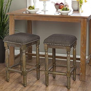 Strange Amazon Com Renate Grey Shabby Chic Counter Height Bar Machost Co Dining Chair Design Ideas Machostcouk