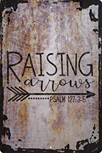 Raising Arrows Psalm 127:3-5 Bible Verse Jesus Christ Religion Decorative Wall Decor Funny Gift