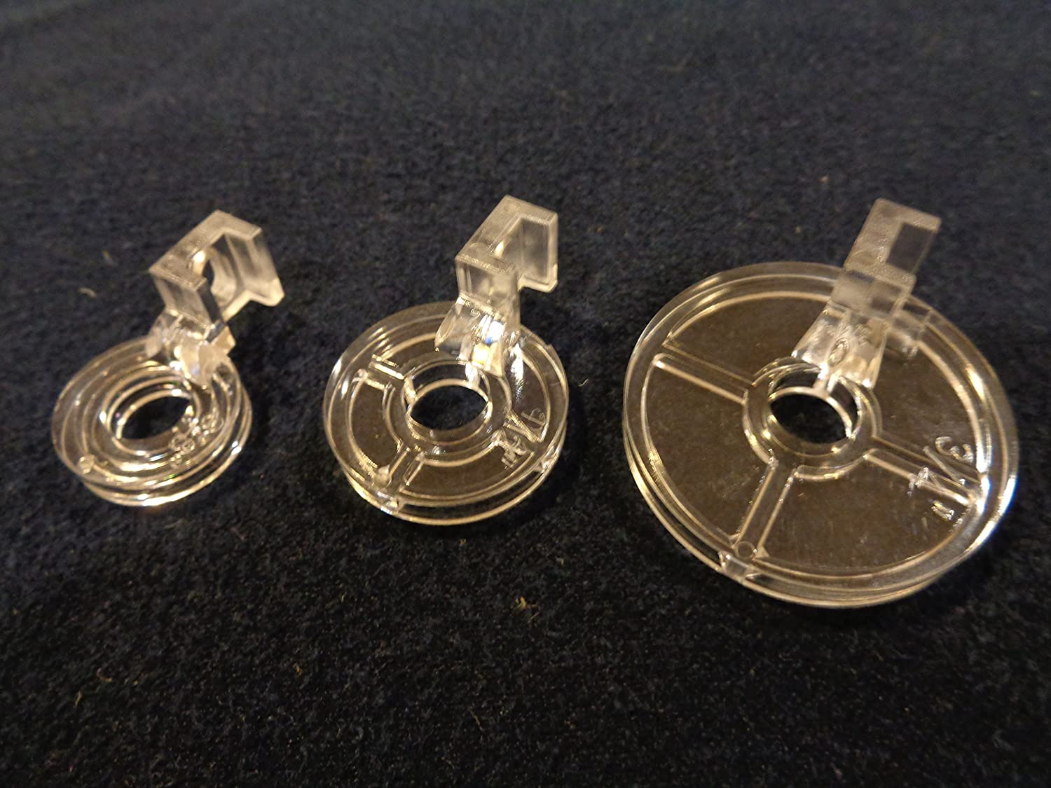 NGOSEW 3pcs CLARITY CLEAR ECHO QUILTING FEET FOOT Embroidery Works With Low Shank Sewing Machines 3//8,1//2,3//4