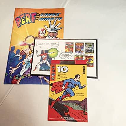 Amazon Superheroes Canada 10 Stamp 45 Cent Set Collectible Postage Stamps Everything Else