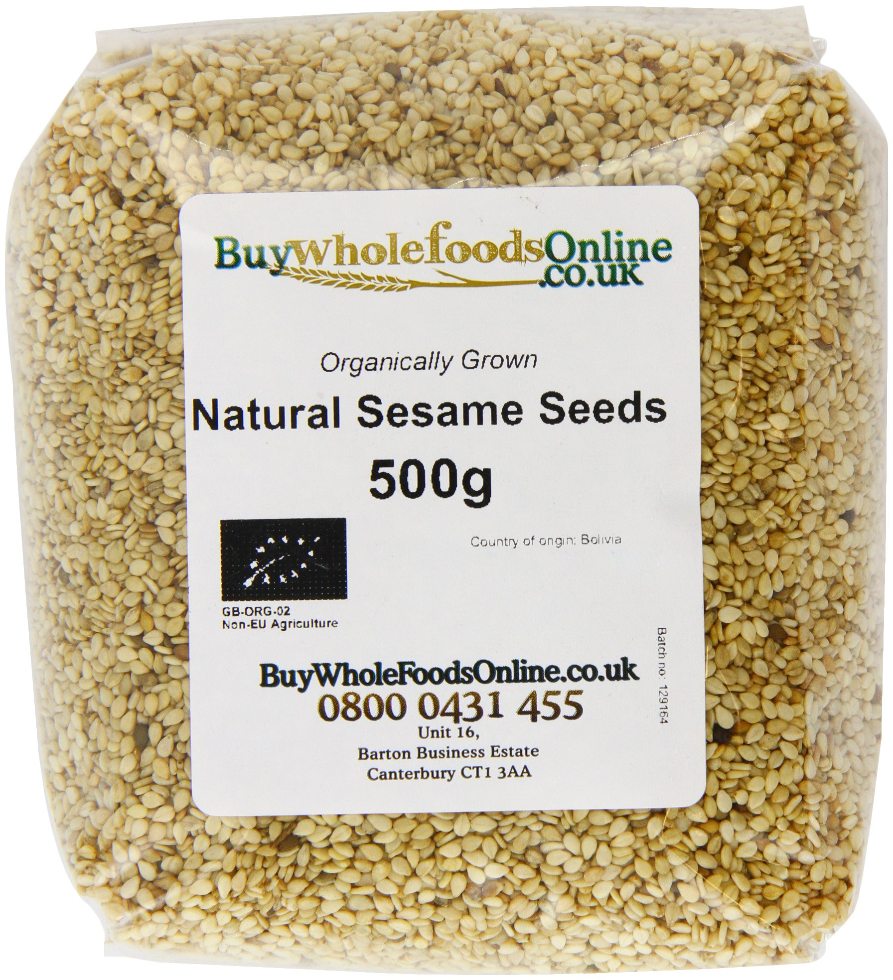 Buy Whole Foods Organic Natural Sesame Seeds 500 g
