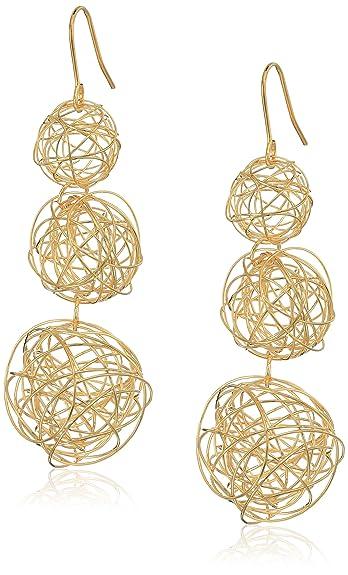 Kenneth Jay Lane Beaded Three-Drop Ball Earrings WMH52dK