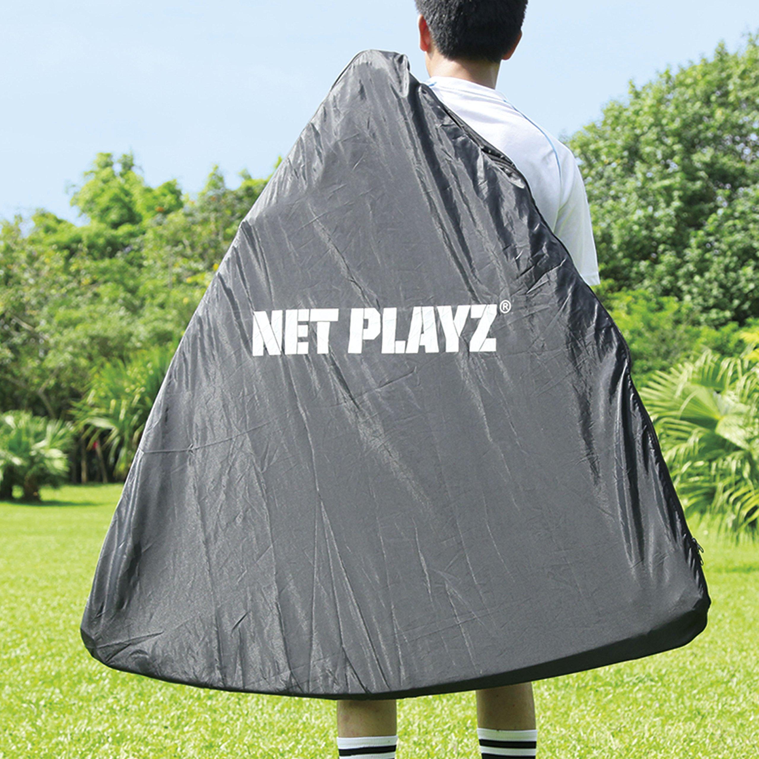 NET PLAYZ 4 x 4 x 4 Feet Lacrosse Goal Fast Install, Fiberglass Frme, Lightweight, Foldable, Portable, Carry bag Included by NET PLAYZ (Image #5)