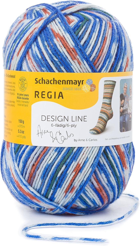 150g Kn/äuel Sockengarn REGIA 6-f/ädig Design Line by ARNE /& CARLOS 9801264-03655 fallnight Handstrickgarn