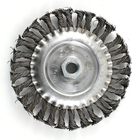 "SÜA Wheel Brush Knotted 4/"" x 5//8/""-11 UNC Arbor Hole"