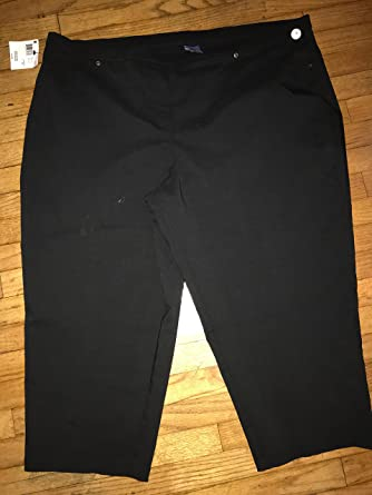5348752f55598 BASIC EDITIONS Women s Plus Size Capri Pants at Amazon Women s Clothing  store