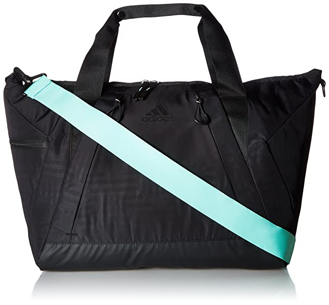 5ec681d06 adidas Studio II Duffel Tote, Black Dot Punch Emboss/Black/Easy Green,