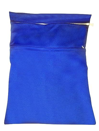Fieltro de corazón azul pañales Wet Bolsa. Dos compartimentos significa Almacenamiento para Pañales, Pañales