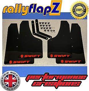Mudflaps Black 'Sport' Red rallyflapZ SUZUKI SWIFT SPORT ZC31S 05 ...