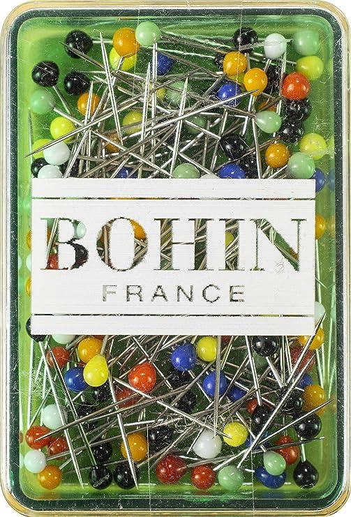 Bohin Glass Head Pin Size 3//8in 200ct White 28-1 3//8
