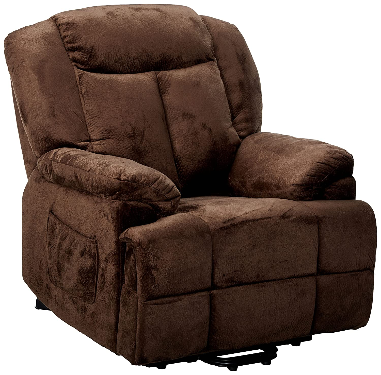 Velvet Power Lift Recliner Chocolate