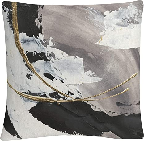 Trademark Fine Art Gilded Arcs I By Chris Paschke 16x16 Decorative Throw Pillow Home Kitchen
