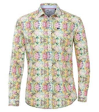 Venti Herren Popeline Hemd mit modischem Druck Slim Fit Washed 100%  Baumwolle  Amazon.de  Bekleidung a041a88f0d