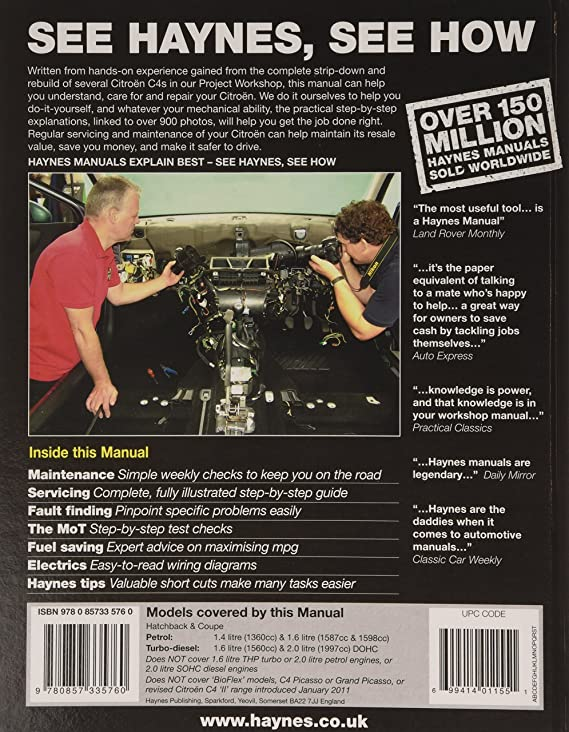Citroen c4 petrol diesel 04 10 haynes repair manual haynes citroen c4 petrol diesel 04 10 haynes repair manual haynes service and repair manuals anon amazon car motorbike fandeluxe Gallery