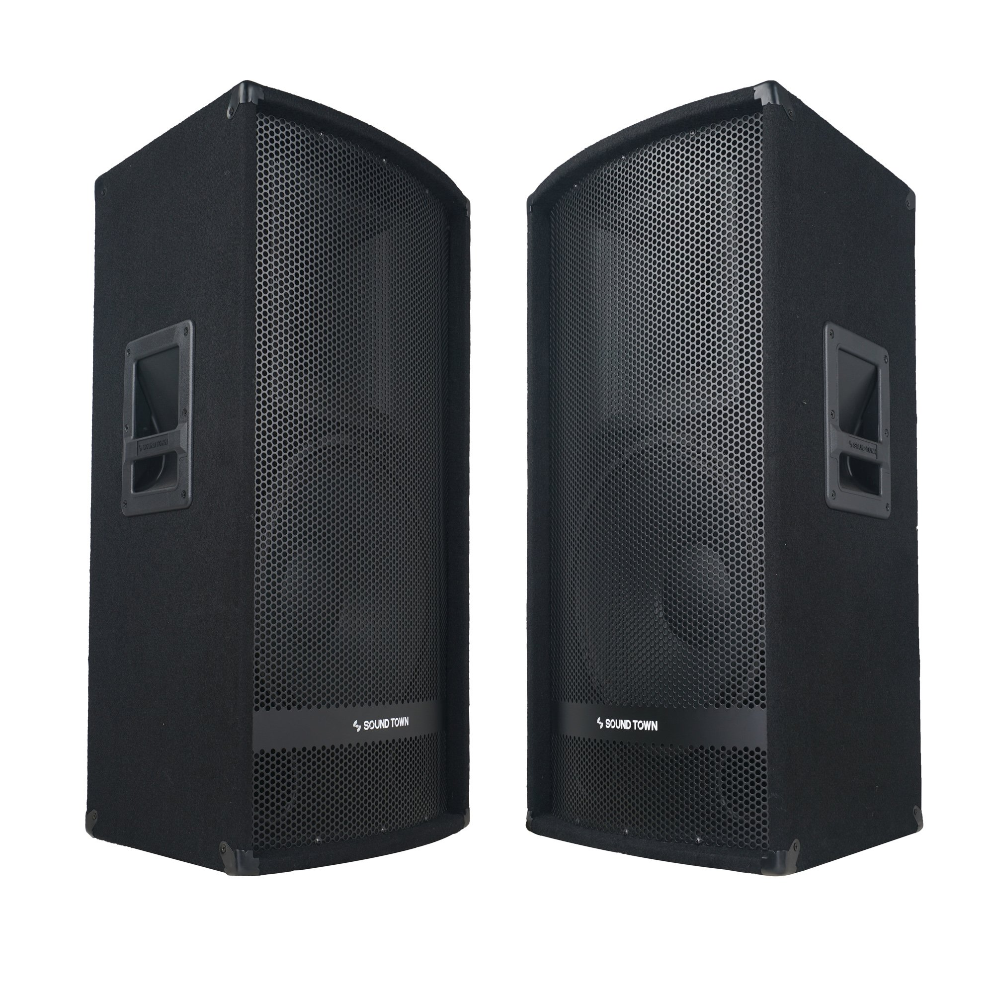 Sound Town 2-Pack 15'' 1400W 2-Way Full-range Passive DJ PA Pro Audio Speaker with Compression Driver for Live Sound, Karaoke, Bar, Church (METIS-115-PAIR)