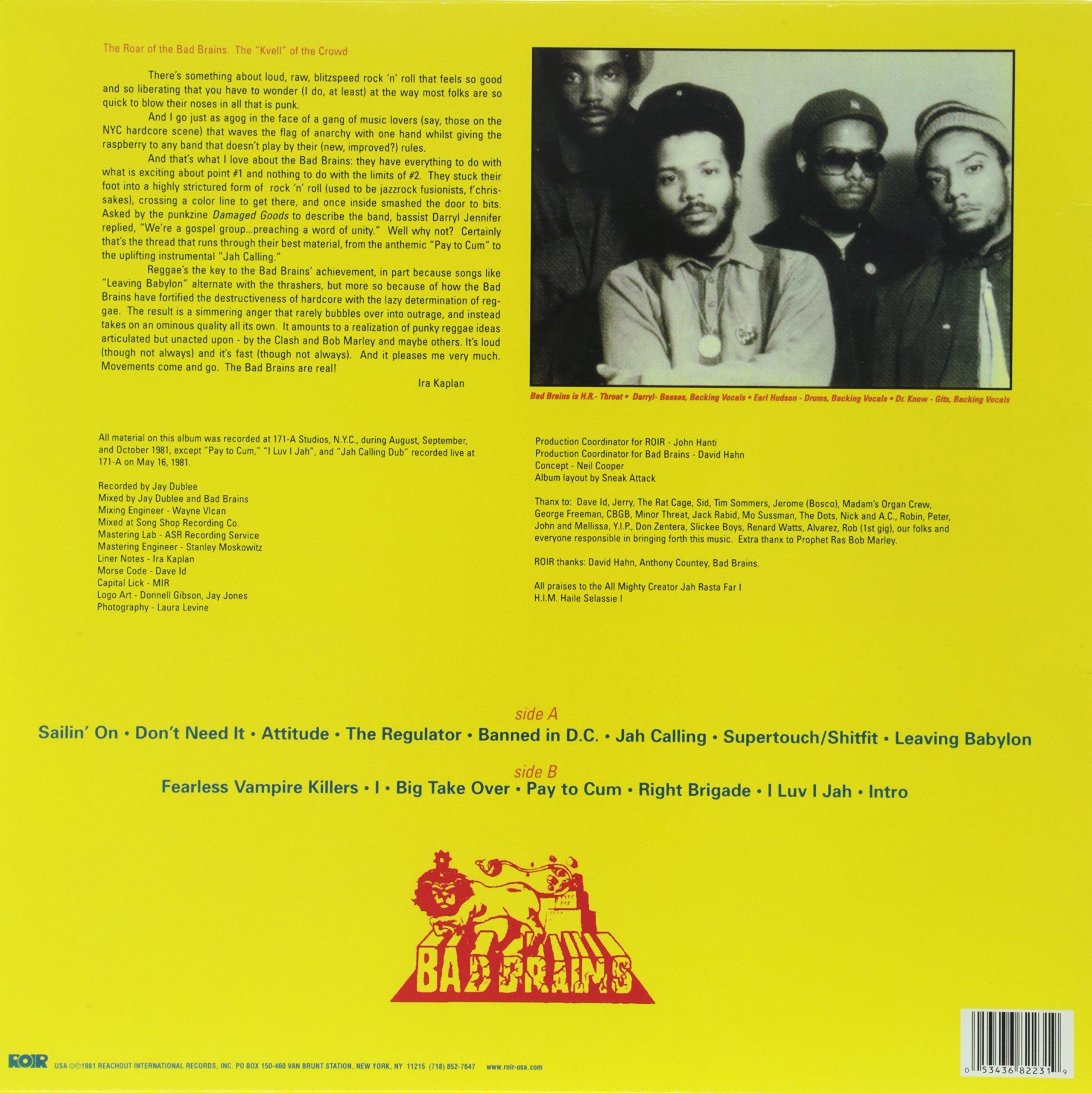 Bad Brains [Vinyl] by ROIR