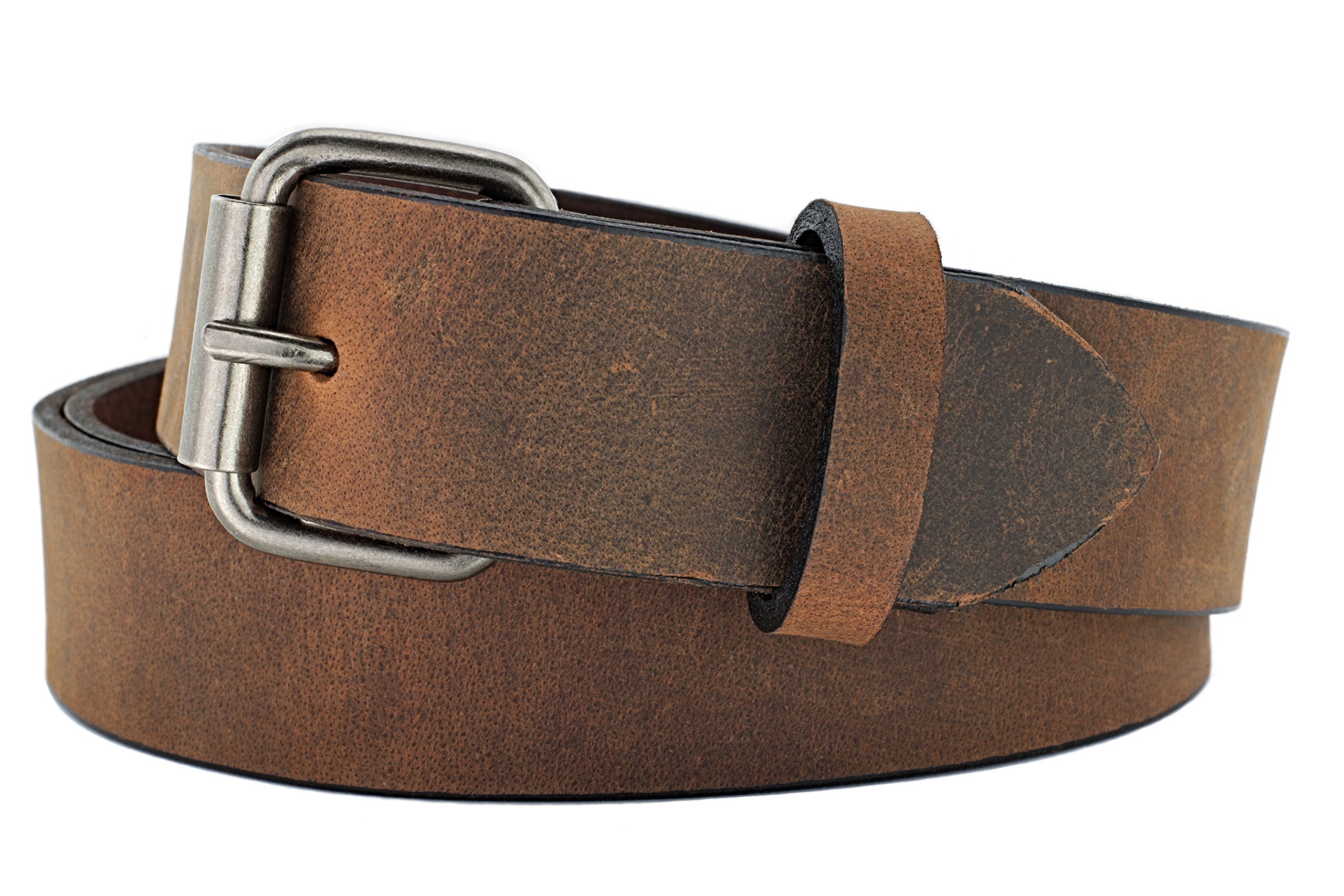 Naleeni Womens Dark Brown Leather Belt Soft with Buckle Options. Made in USA 1.5 Inch Wide 45RAN