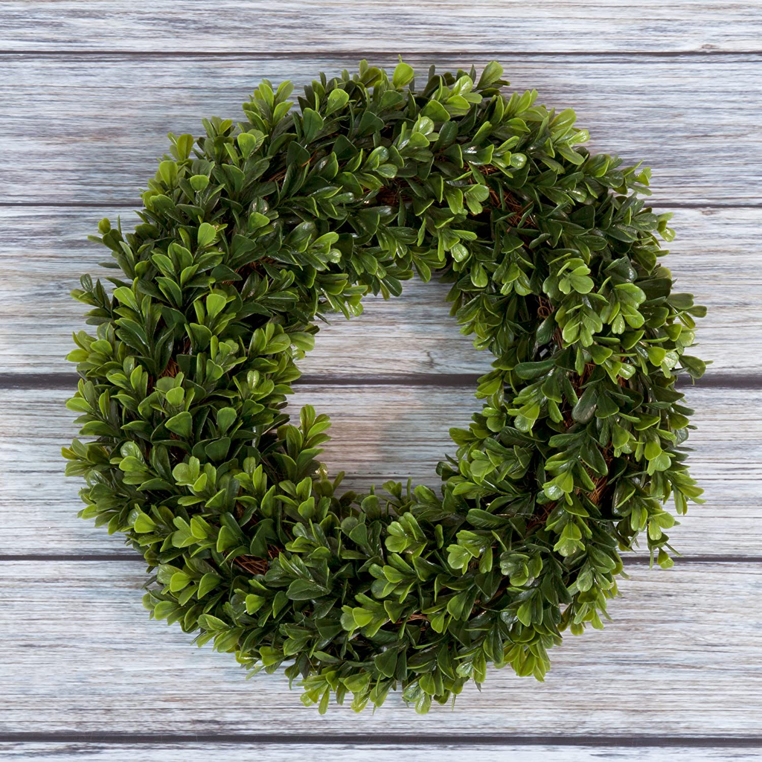 Amazon.com: Boxwood Wreath, Artificial Wreath For The Front Door By Pure  Garden, Home Décor, UV Resistant   12 Inches: Home U0026 Kitchen